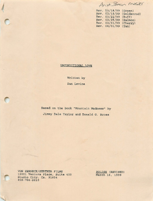 Murder on Shadow Mountain Script