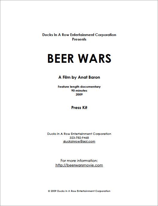Beer Wars Press Kit